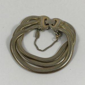 Vintage Monet Silver Tone Bracelet